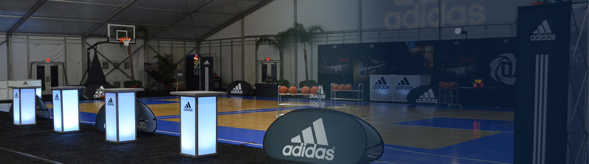 Adidas indoor basketball cour engagement services