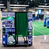 Custom Rolling Rock Photobooth provides engagement for guests at Miami event