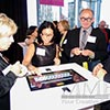 Digital Marketing touch screen engages visitors at upscale Miami event